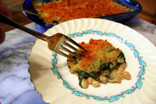... symphony of spinach fennel and white beans all enrobed in a creamy