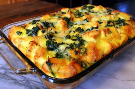 Make-Ahead Spinach and Cheese Strata