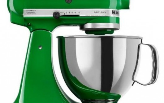 grass green stand mixer