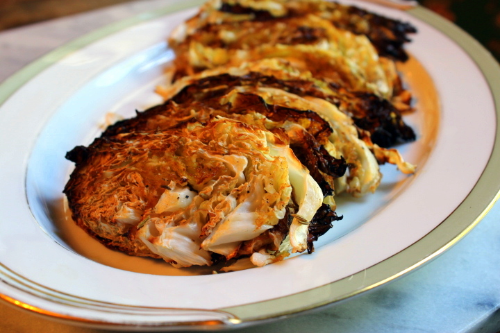 Roasted Cabbage Rounds