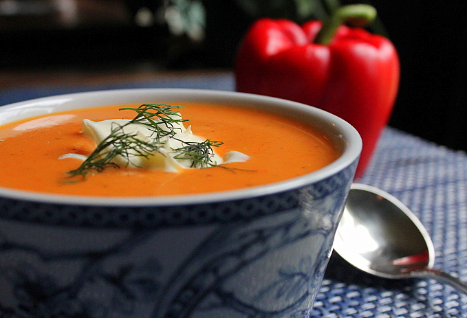 Kevin's Red Bell Pepper Soup