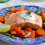 Easy Elegance: Poached Salmon and Veggies