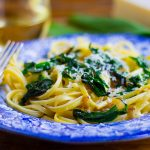 Fast Food: Linguine with Ramps and Asiago