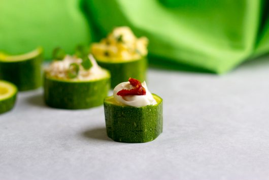 zucchini cups creme fraiche and sun dried tomato 7-28-16