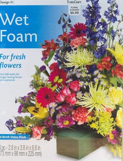zinnias and pachy wet foam package 8-14-16