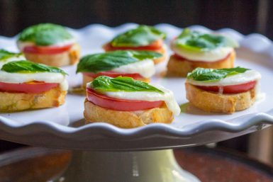 Baked Salad Caprese Appetizers