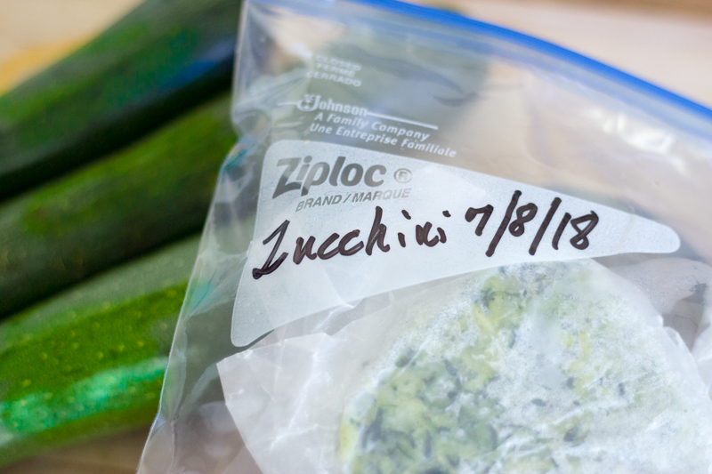 How I Freeze Zucchini
