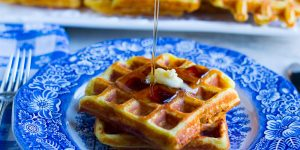 Crispy Orange Juice Waffles
