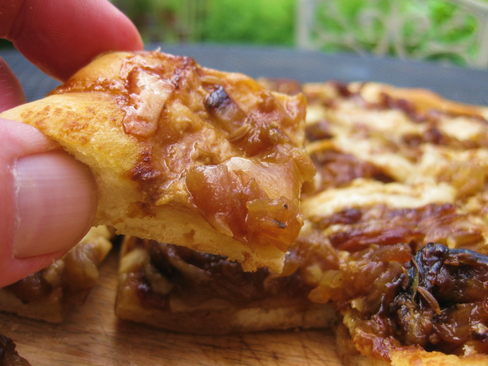 Onion Tart with Mustard & Fennel