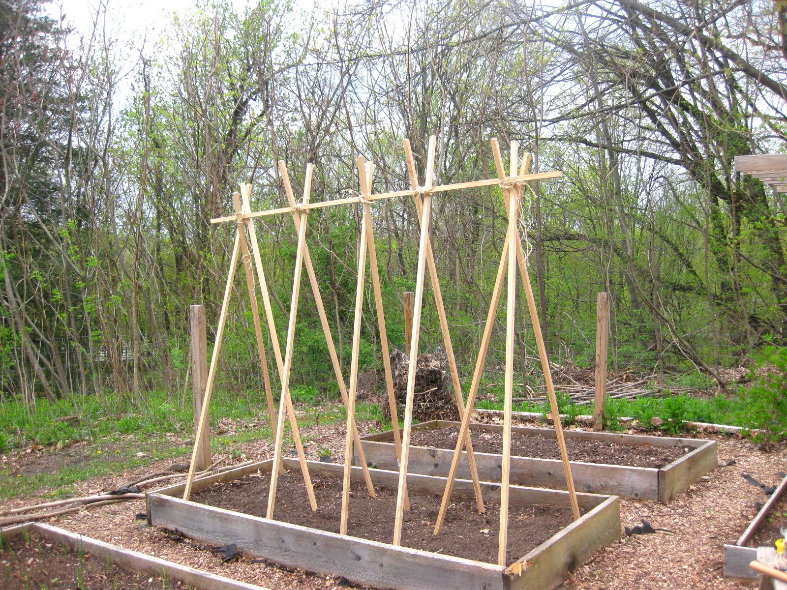 Making Beds With Wood Poles