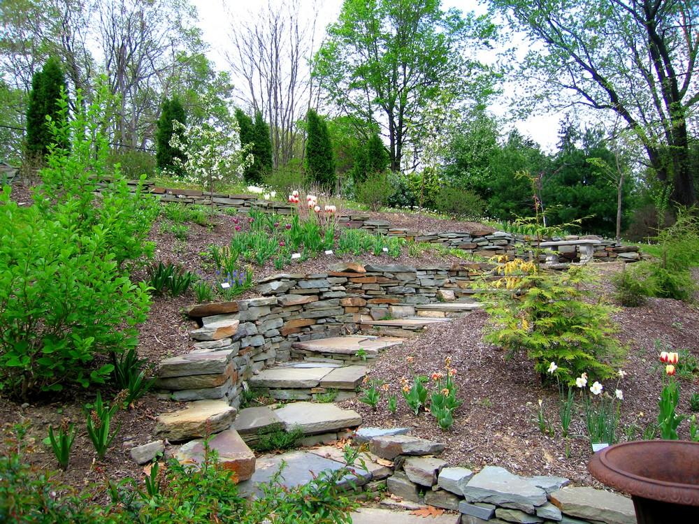 From Hellish Hill to Serpentine Garden on Hill Backyard Ideas id=93439