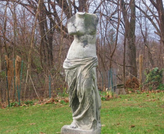 statue in my garden