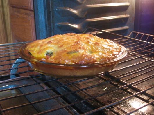 Classic Tomato Pie, baked