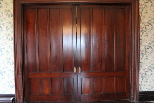 Unfortunately, once the doors were polished, I realized their frames looked  rather atrocious.They were marked with hundreds of scratches, nicks, and  dings. - How I Restored My Victorian Pocket Doors