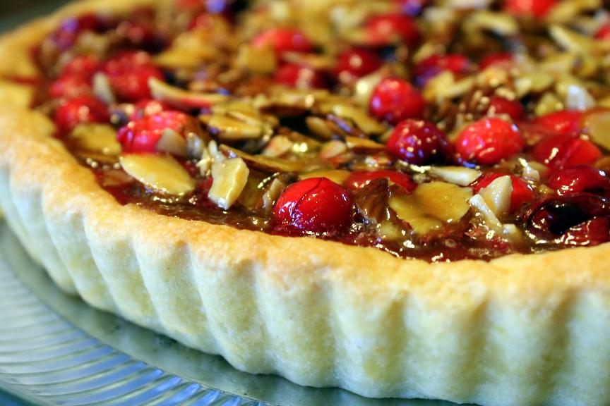 Cranberry-Almond Tart