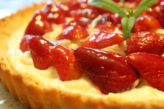 Glazed Strawberry Tart