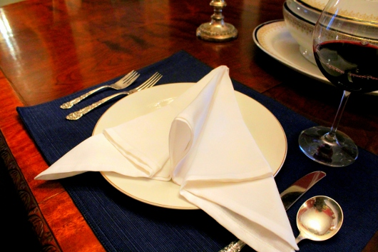 "Napkin Folding 102: ""The Arrow"""