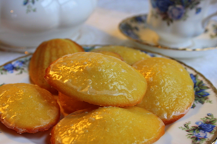 Lemon and Rose Madeleines