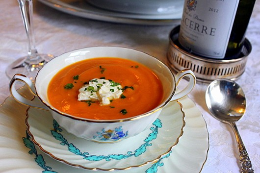 Carrot-Ginger-Orange Soup - Thanksgiving side dishes