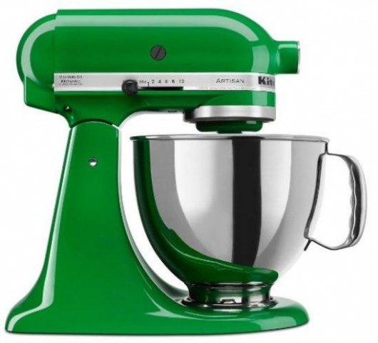 grass green stand mixer
