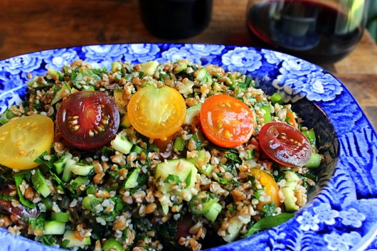 Tabbouleh with Heirloom Tomatoes and Zucchini