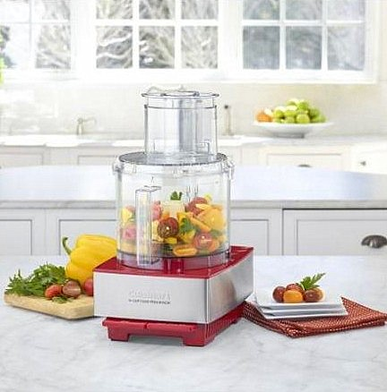 cuisinart 14 cup silver red