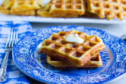 crispy orange waffles butter 13 JPG