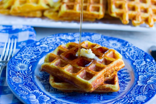 crispy orange waffles syrup 14 JPG