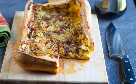 Bacon and Onion Popover Tart cover jpg