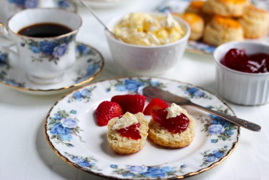 clotted cream and jam on scones 4-25-16 jpg