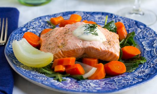 Kevin's Poached Salmon and Veggies