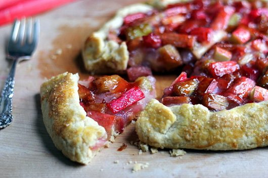 Rhubarb Galette with Red Currant Glaze