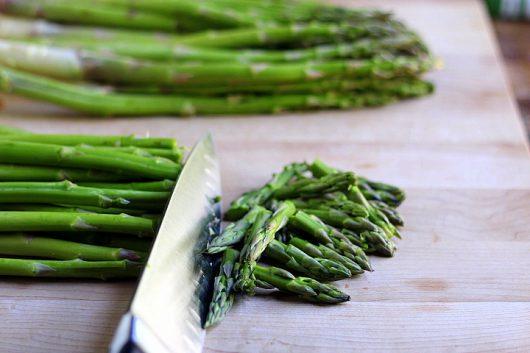asparagus trim tops