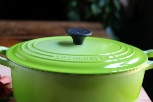 rhubarb sauce green pot picassa