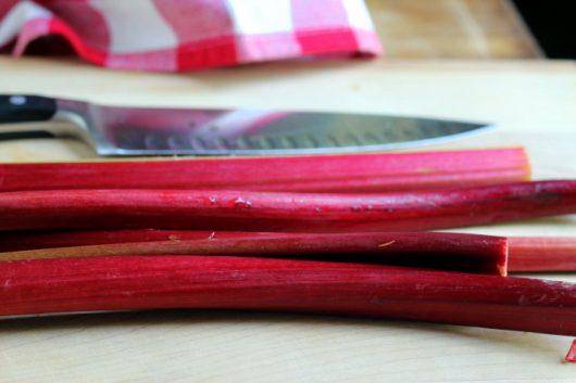 rhubarb sauce red stalks picassa
