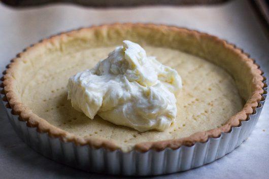 drop creamchesse mixture onto tart shell 6-16-16 jpg