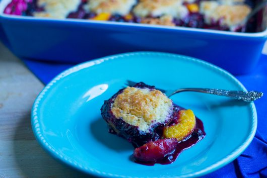 blueberry peach cobbler serve 7-29-16
