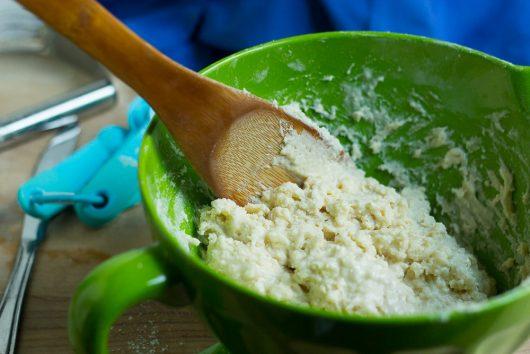 blueberry peach cobbler stir until wet batter 7-29-16