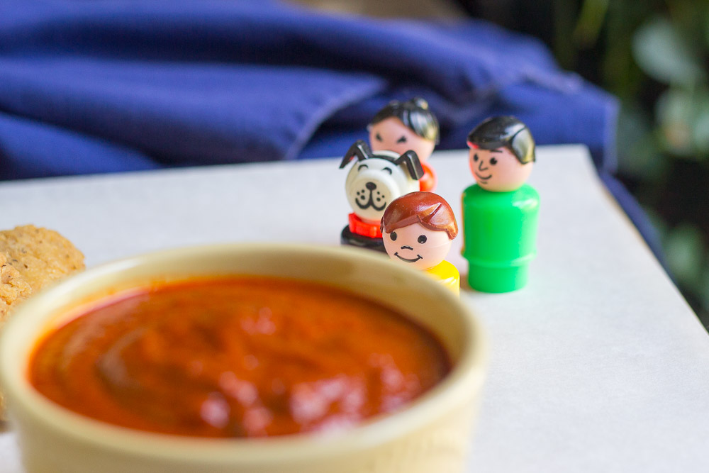BBQ sauce baby little people 8-03-16