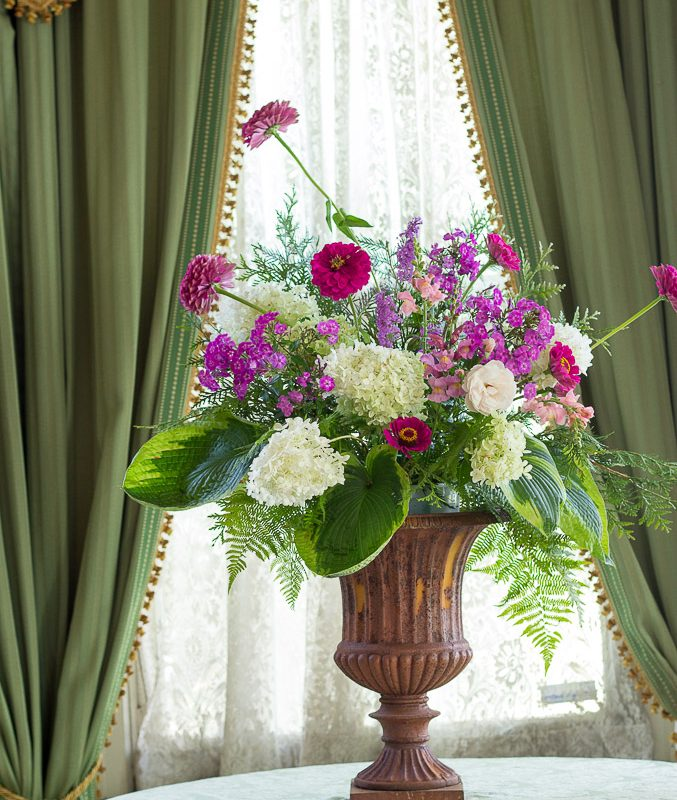 Flowers for the September Entrance Hall