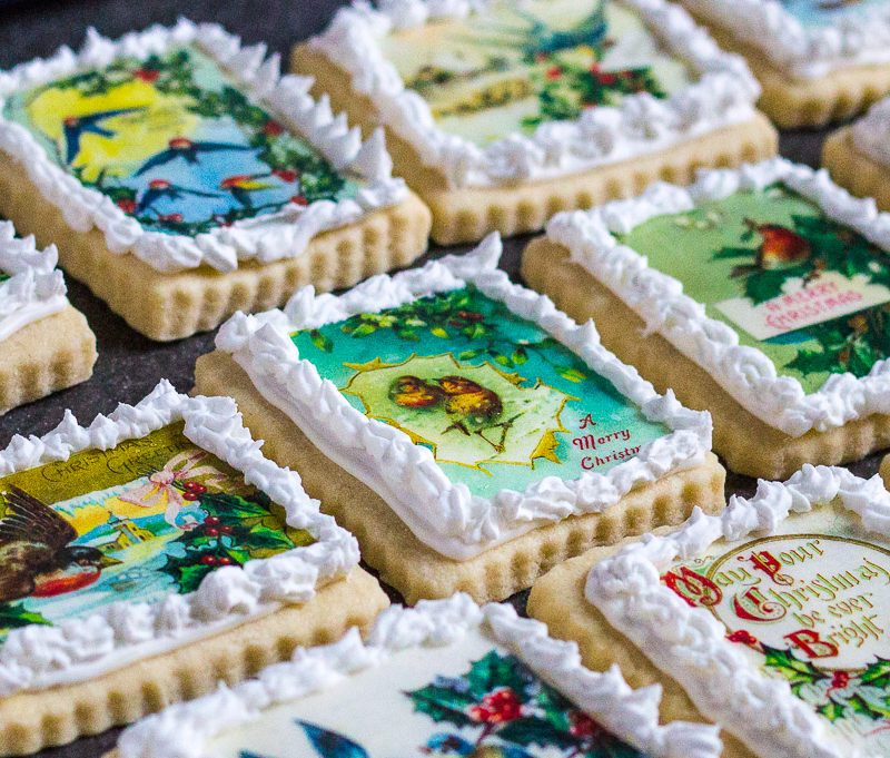 Edible Image Christmas Cookies
