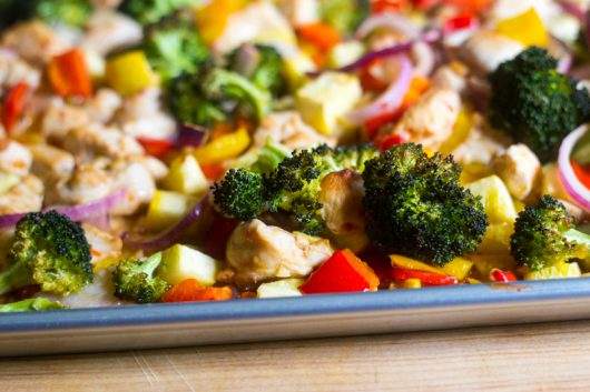 Asian Chicken and Veggies Sheet Pan Dinner