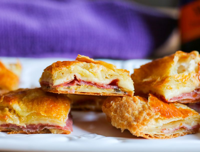 Cocktail Appetizer: Salami in Puff Pastry