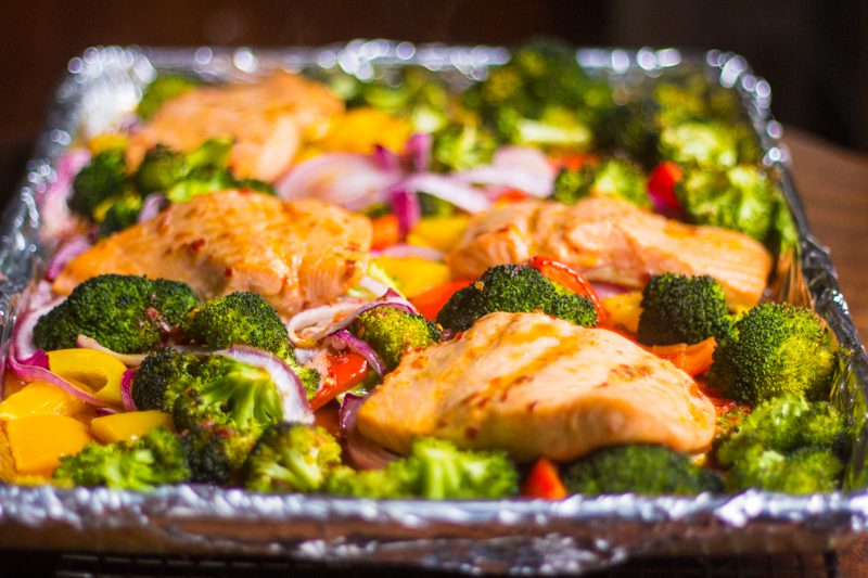 Sheet Pan Dinner: Salmon and Veggies