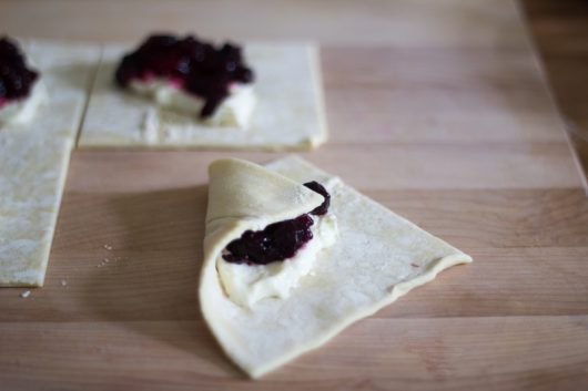 folding the Blueberry Danish