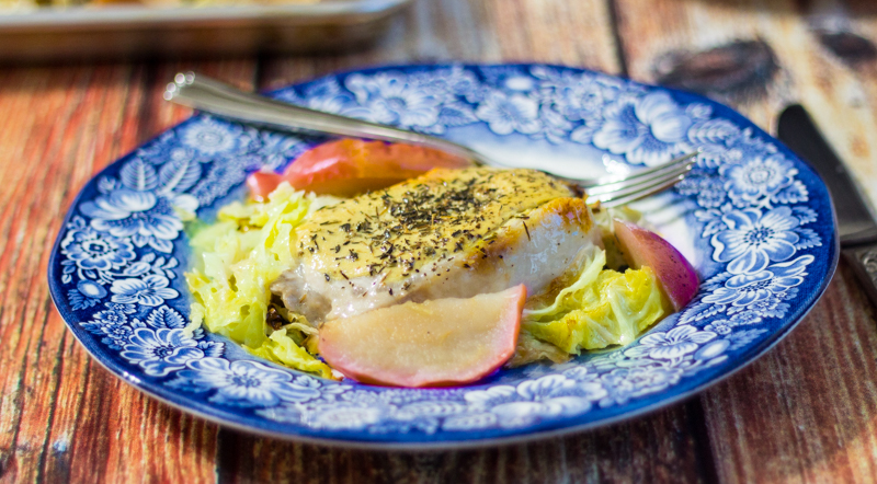 Video: Dijon Pork Chops with Cabbage and Apples