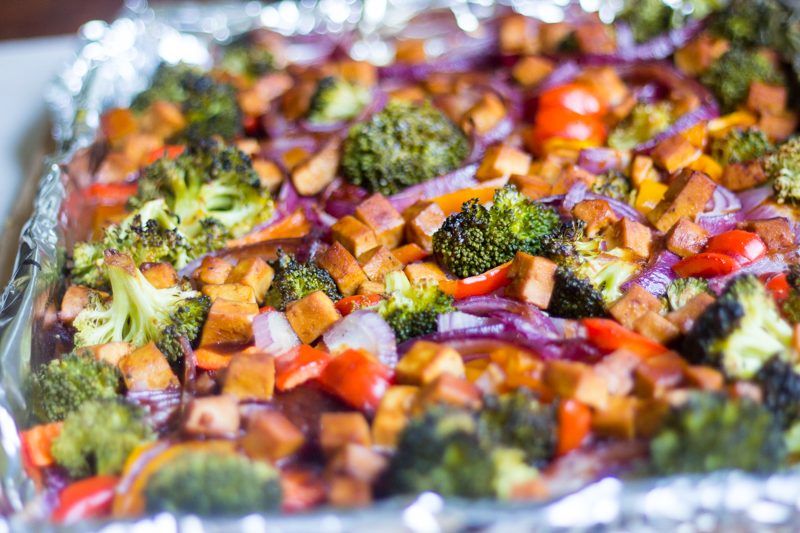 Sheet Pan Dinner: Hoisin Tofu and Veggies