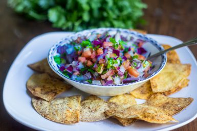 Pico de Gallo and Crispy Oven-Baked Tortilla Chips