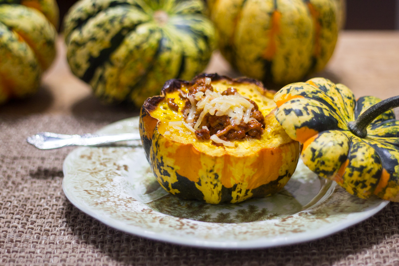 Stuffed Acorn (or 'Carnival') Squash