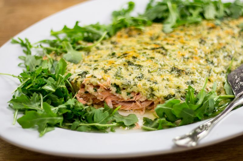 Keto for Company: Parmesan Crusted Salmon